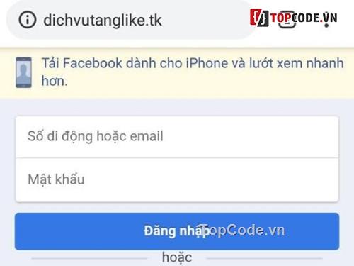 Code Phishing Facebook Bản Mobile FIx Lỗi 2018