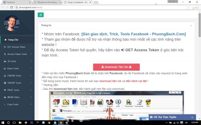 Share code Web Tool Hỗ Trợ Và Maketing Facebook